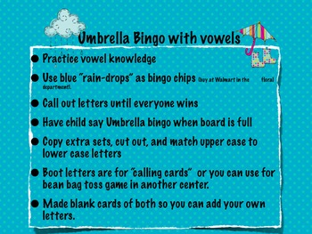 "Umbrella Day for ""U"" Week"