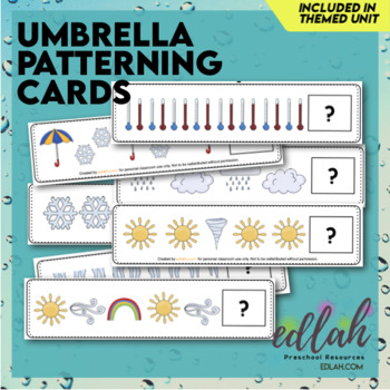 Umbrella/Weather Patterning Cards