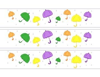 Umbrellas April Rain Bulletin Board Border Printable Full Color PDF