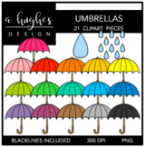 Umbrellas Clipart {A Hughes Design}