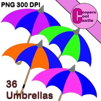 Umbrellas (Digital Clip Art)