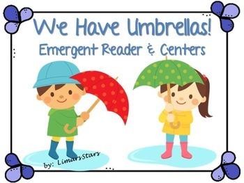 Umbrellas Emergent Reader