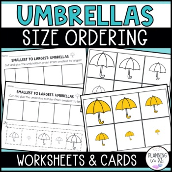 Umbrellas Size Ordering (From Smallest to Largest)