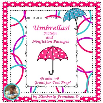 Umbrellas: Fun Facts, Non-Fiction & Fiction Passages & Printables