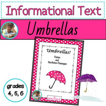 Umbrellas: Fun Facts, Non-Fiction & Fiction Passages & Printables