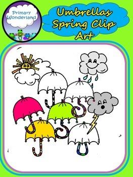 Umbrellas for Spring Clipart Collection
