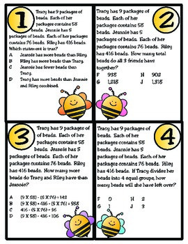 Un-BEE-lievable Word Problems: Texas 4th Grade Math (TEKS 4.4H and 4.5A)