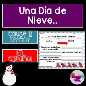 Un Día de Nieve-causa y efecto/The Snowy Day-cause and effect