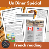 Un Diner Special - story for int/advanced French - Thanksg
