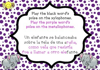 """Un Elefante"" a Mexican Folk Song (first grade)"