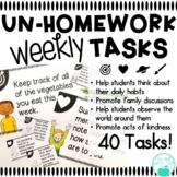 UnHomework - 40 Weekly Tasks to Promote Kindness, Good Hab