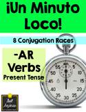 Minuto Loco - AR Verbs Present Tense Conjugation Games - Standard Size