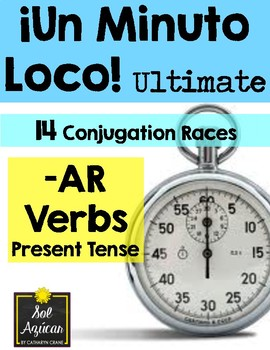 Minuto Loco - AR Verbs in Present Tense - Conjugation Games - Ultimate Size