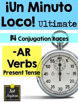 Minuto Loco - AR Verbs in Present Tense - Conjugation Games - Ultimate Size