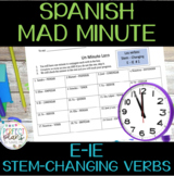 Mad Minute - Un Minuto Loco - E-IE Stem-Changing Verbs
