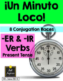Minuto Loco - Er & Ir Verbs in Present Tense Conjugation Games - Standard Size