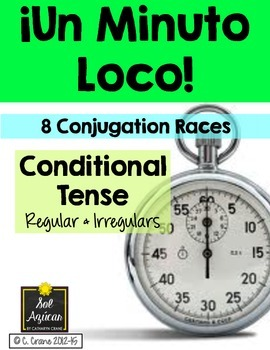Minuto Loco - Conditional Tense Conjugation Games - Standard Size 8 Races
