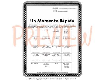 Un Momento Rápido: Spanish Personal Pronouns