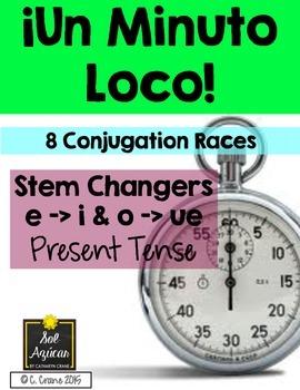 Minuto Loco - Stem Changing Verbs E - I, O - UE in Present Tense - Standard Size