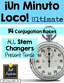 """Minuto Loco - ALL Stem Changing Verbs Present Tense - Ultimate Size"""""""
