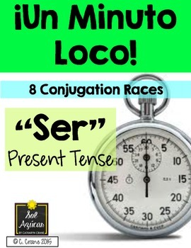 Minuto Loco - The Verb Ser in Present Tense - Standard Size 8 Races