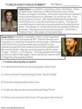 Un Poquito - Spanish Song Lyrics & Activities - Carlos Vives & Diego Torres