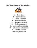 Un Taco Lesson and Vocabulary