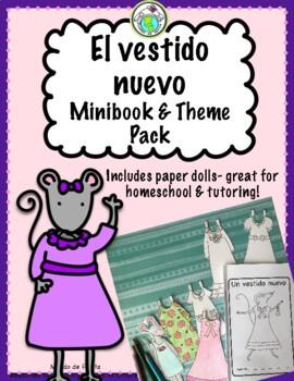Un Vestido Nuevo Minibook + Paperdolls ACTIVITY PACK Spanish Printable Minibook