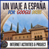 Un Viaje a España - Internet activity unit for Google Drive