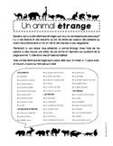 Un animal étrange (présentation)