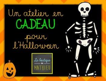 Un atelier mathématique en CADEAU pour l'Halloween!