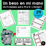 Un beso en mi mano actividades (Spanish The Kissing Hand Activities)