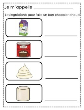 Un bon chocolat chaud - Primary French Activities