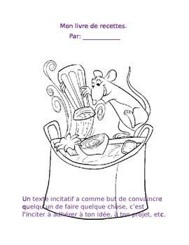 Un cahier de recette