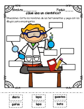Un cientifico Classroom Posters and Worksheets