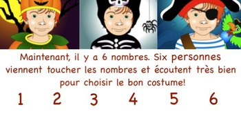 Un costume pour Halloween SMARTboard Vocabulary Games