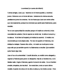 Un cuento de folletín  Reading Comprehension, Preterit vs. Imperfect in Spanish