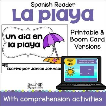 Un día en la playa Spanish Beach Reader for Summer {español} & Sorting Activity