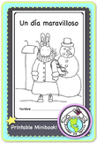 Un día maravilloso Winter Activity Spanish Printable Minibook