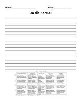Un día normal - Spanish Normal Day Writing