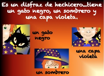 Un disfraz para Halloween (Spanish Hallween Video Story BUNDLE)