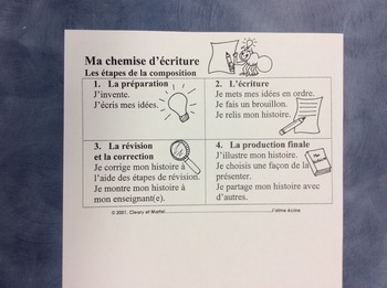 J'aime écrire - A FRENCH Writing Folder for primary students