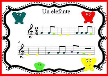 Boomwhackers easy. Un elefante se balanceaba. Scores and audio to play with.