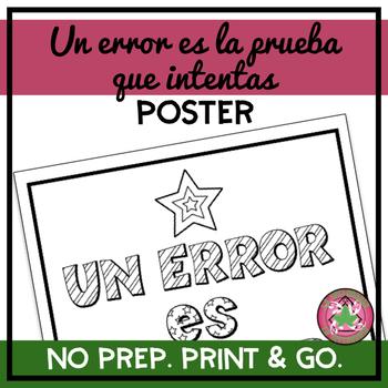 Un error es la prueba que intentas Coloring Pages/Poster