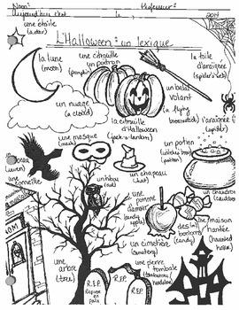 Un lexique pour l'Halloween