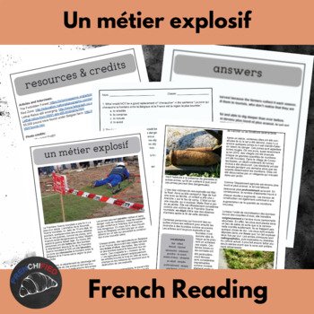 Un métier explosif - a reading for intermediate/advanced French students