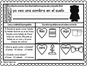 Un nuevo día febrero (February Morning Work in Spanish)
