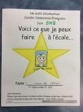 Un outil d'évaluation- FRENCH - Kindergarten/grade 1- Eval