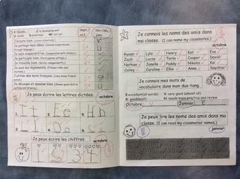Un outil d'évaluation -KINDERGARTEN/ GRADE 1- FRENCH-Evaluation booklet 1