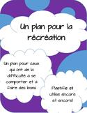 Un plan pour la récréation - en français